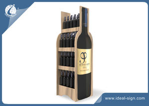 5 Layers Wooden Wine Racks For Supermarkets And Stores