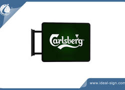 Rectangular Shape Carlsberg Bar Signs For Outdoor Use