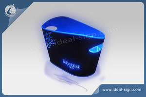Plastic PP Illuminated LED Ice Bucket