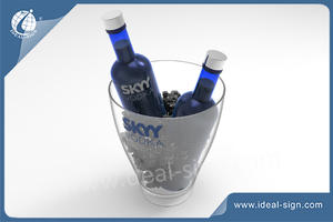 Custom Plastic Injection Beer Beverage Tubs Wine Ice Buckets For Bars