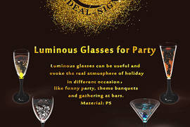 Luminous Glasses for Party