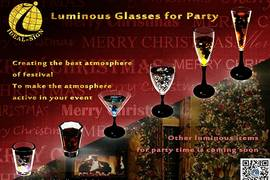Christmas articles: Luminous glass