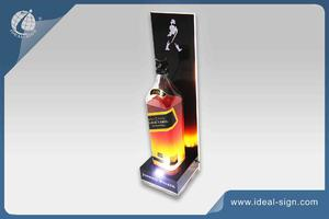 Wholesale personalized illuminated acrylic bottle display stand lighting led bottle display