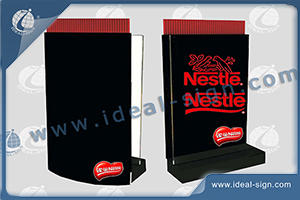 Registe Straw Dispenser Acrílico Personalizar LED Edge-Lit 23 5 X 31cm