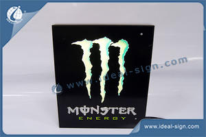 Custom made acrylic led indoor signs lighted wall-mounted display soft drink bar signs for wholesale