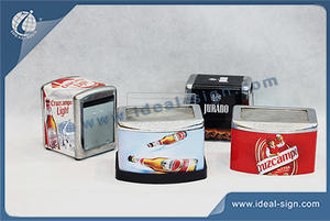 OEM/ODM Tinplate Custom Napkin Holder For Different Brands Advertising