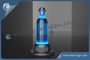 Hat Shape Broker's LED Liquor Bottle Glorifier For Branding Promoting