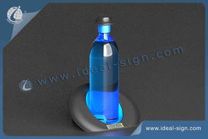 Broker's Acrylic LED Lighted Liquor Bottle Display With Inclined Hat Shape