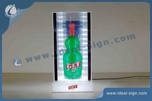 Custom LED Lighted Liquor Bottle Display 21*21*43cm For GET27 Display