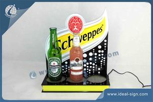Wholesale custom lighted acrylic drink bottle display led liquor display for wholesale