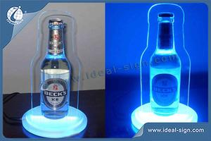 Custom made acrylic bottle display lighted bottle glorifier for wholesale