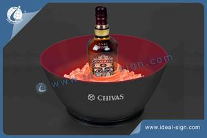 Customized LED ice bucket for wine bottle, wholesale lighted ice bucket for wine