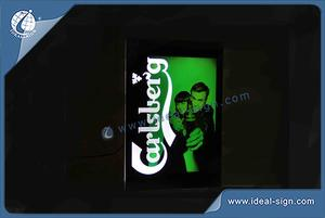 Bar Sign Carlsberg Led Light Box Slim exibição
