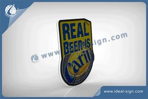 Customized Carib Beer Brand LED Slim Light Signs With Motions For Promotion