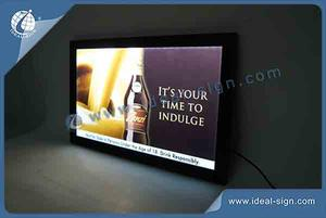 Framed Slim LED Indoor Light Signs 48*31*1.4CM For Display And Advertising