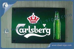 Customized Carsberg Slim LED Sign 18'' * 12'' Illuminated Outdoor Signs