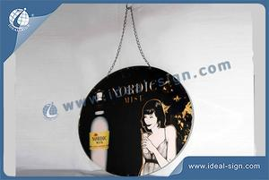 LED Nordic Arredondamento Magro Registe Light Box / Publicidade Lightbox