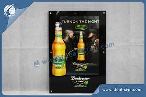 Wholesale custom made led sign light box bar and Budweiser beer signs