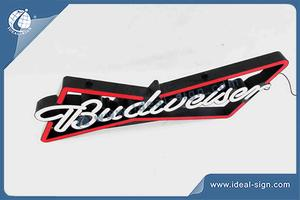 Wholesale neon light signs led neon sign custom made Budweiser beer signs
