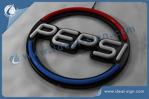 Custom LED neon signs Pepsi drink signs shop signs neon bar signs
