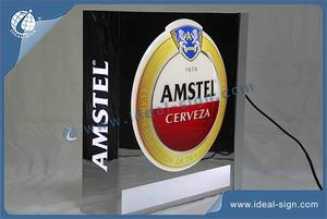 Square Shape Led Vacuum Formed Sign Outdoor Lightbox With Mirror Effect