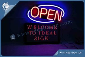 Custom LED open neon signs digital display signs shop signs