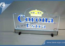 Corona Extra Acrylic LED Sign Display / Slim Led Light Box Sign