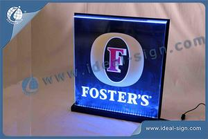 Wholesale personalized beer edge lit display hotel reception signs