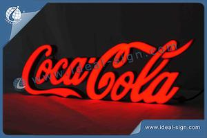 Custom made Coca Cola letter signs wholesale led resin signs supplier
