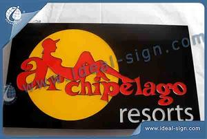 LED Multi Colors Resin Sign / Light Box Manufacturers