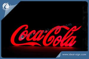 Coca Cola LED Resin Sign For Brand Promoting