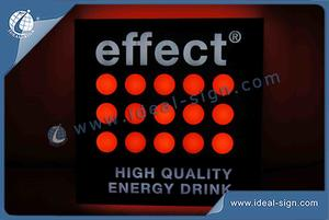 Effect Acrylic Indoor LED Signs For Display Advertising
