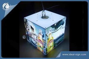 Wall-Mounted Acrylic Indoor LED Signs Light Box Cube Shape