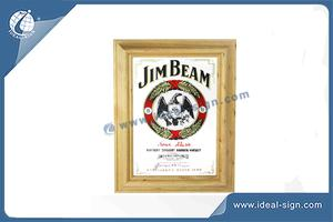 Custom non illuminated beer mirror signs bar mirror display for wholesale
