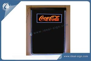 Fluorescent Led Writing Blackboard With Coca Cola Logo