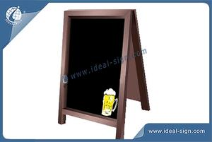 Custom Outdoor A Frame Signs / Wooden Framed Advertising Blackboard