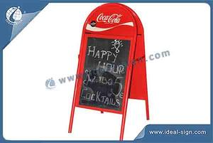 Outdoor A Frame Sidewalk Sign For Coca Cola Display