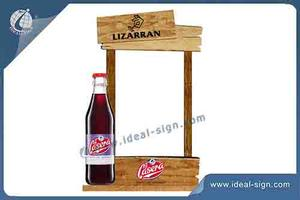 Customized Wood Table Stand Menu Holder Retro Style