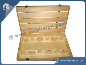 Netural Paulownia Wooden Wine Box 35X52X10CM