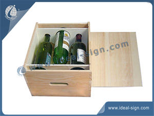 3 Bottle Wood Wine Gift Packing Box Customized Logo