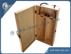 Two Bottle Pine Wooden Gift  Wine Box / Wooden Wine Boxes Wholesale