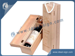 One Bottle Wine / Champagne Wooden Wine Box