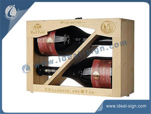 Special Design Bottle Natural Wooden Wine Box