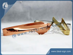 Personalizado Stainless Steel Bar Ice Tong / Ice Alip Com Chivas-Logo