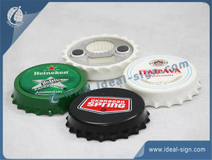 Bottle Cap Shape Metal Beer Bottle Opener Custom