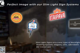 Perfect image with our Slim Light Sign Systems