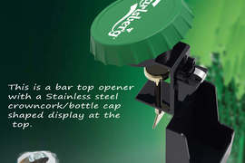 Bar Top Bottle Opener & Cap Catcher