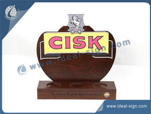 Custom wholesale acrylic and wooden wine bottle holder displays small wooden bottle display rack.