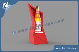 Wholesale personalized illuminated acrylic bottle display stand lighting led bottle display.