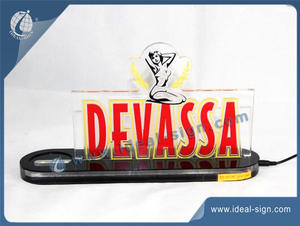 DEVASSA Bottle Display / Bottle Glorifier With Led Light
